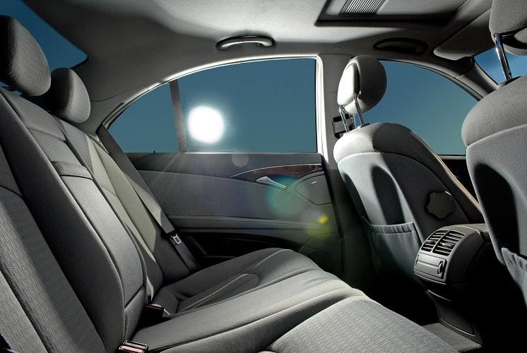 car interior with window tint