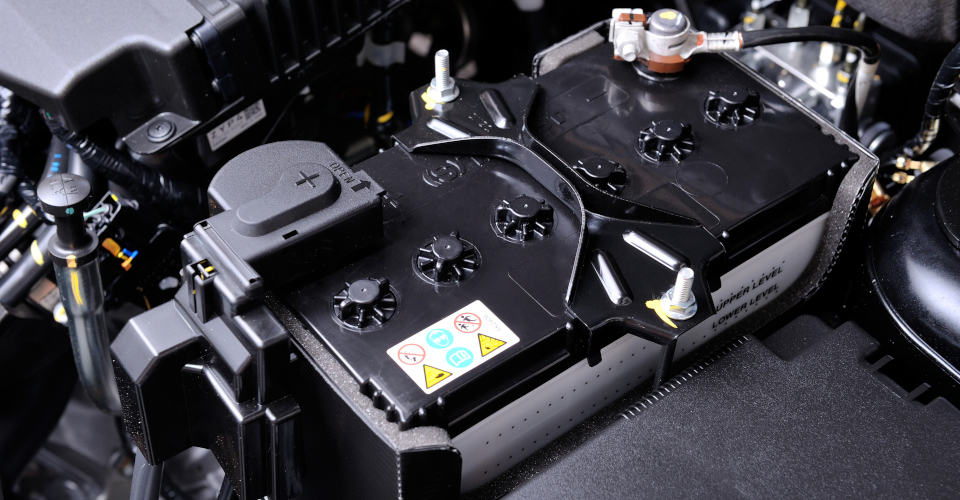 black car battery