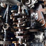 car parts on display