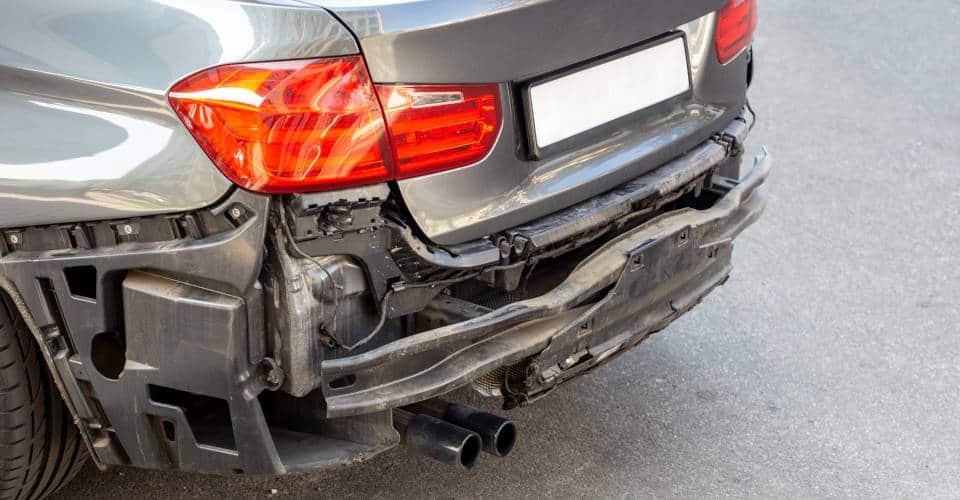 damaged car back