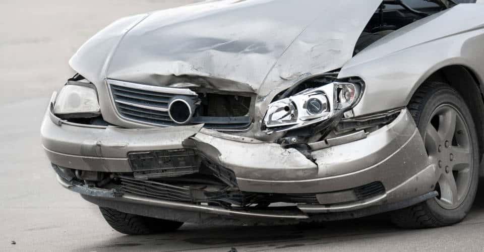 damaged car front