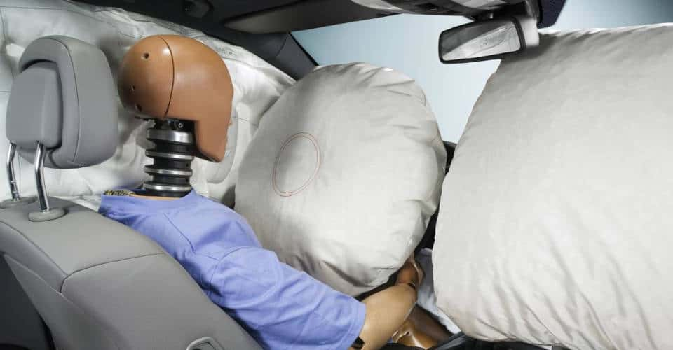 inflated car airbags