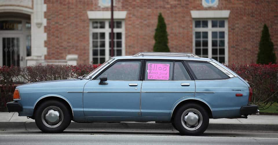 older car being sold