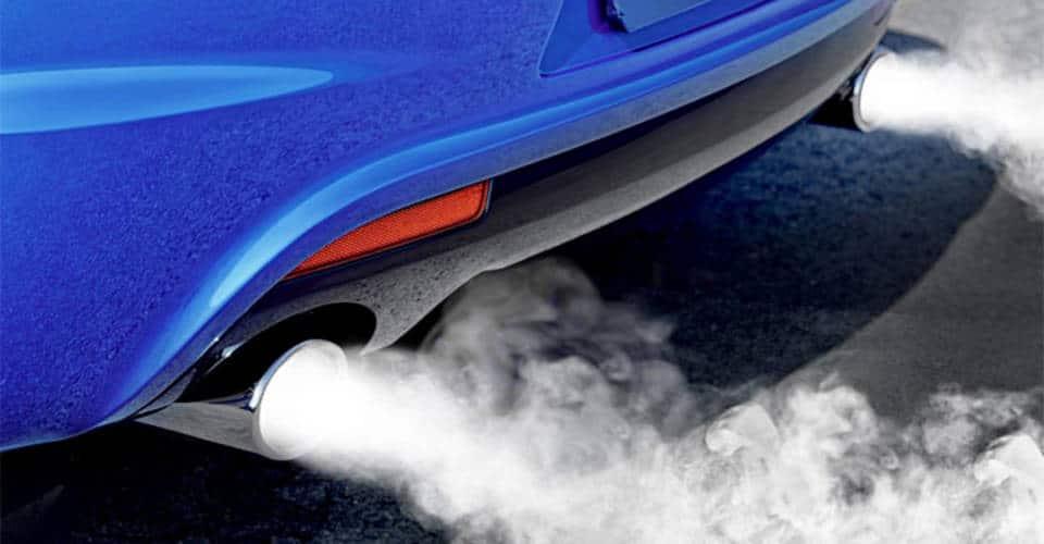 thick exhaust smoke