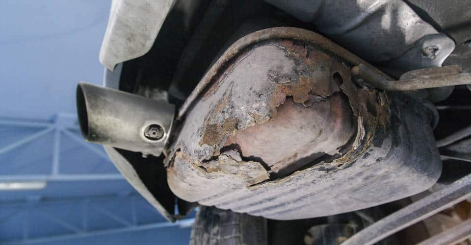 worn out exhaust system