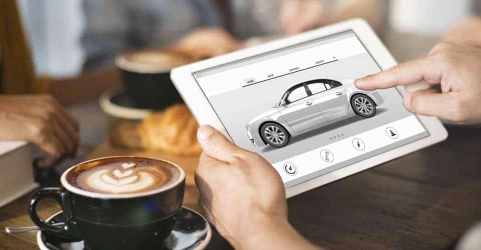 car in tablet