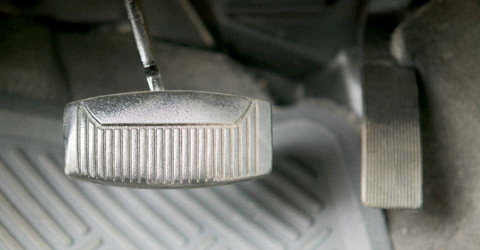 brake pedal and gas pedal