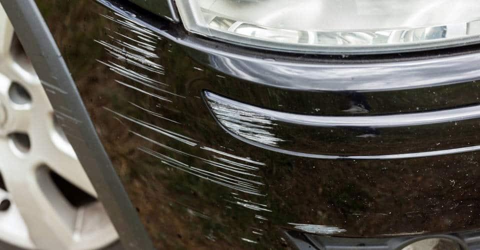 black car scratches