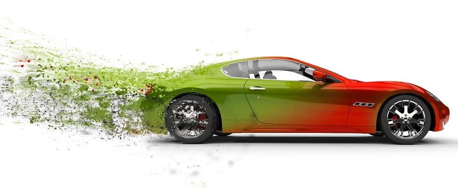 Fast car paint peeling off